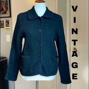 Vintage thick ribbed wool sweater